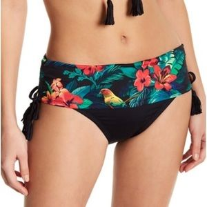 Tommy Bahama Jungle Print High Waisted Shirred XS